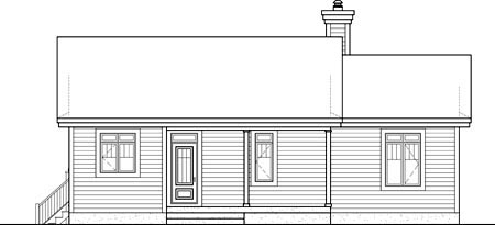 House Plan 52789 Rear Elevation