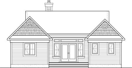 House Plan 52790 Rear Elevation