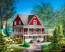 House Plan 52791 Elevation