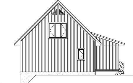 House Plan 52795 Rear Elevation