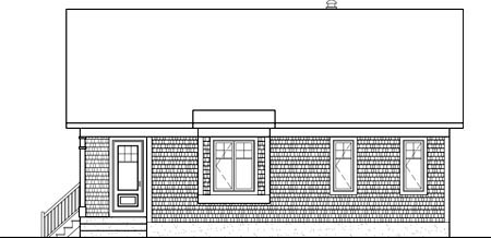 House Plan 52796 Rear Elevation