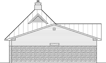 House Plan 52798 Rear Elevation