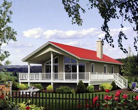 House Plan 52799 with 2 Beds, 1 Baths