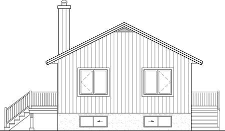 House Plan 52799 Rear Elevation