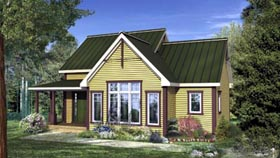 House Plan 52800 with 1 Beds, 1 Baths Elevation