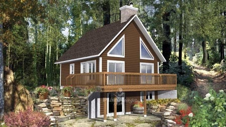 House Plan 52801 with 2 Beds, 2 Baths Elevation