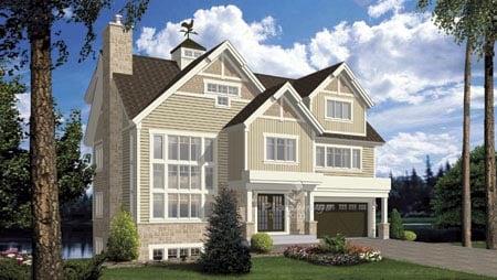 House Plan 52802 Elevation
