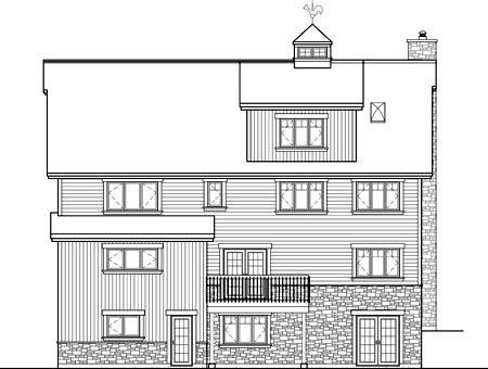House Plan 52802 Rear Elevation