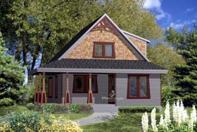 House Plan 52803 Elevation