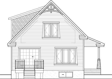 House Plan 52803 Rear Elevation