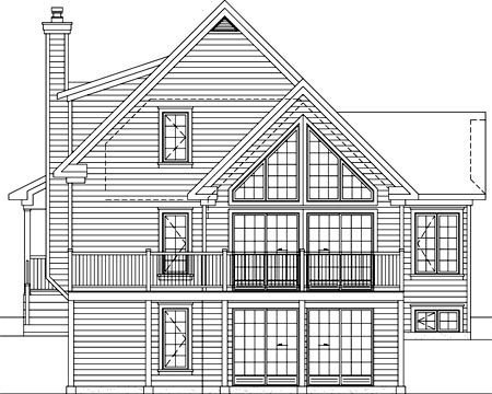 House Plan 52804 Rear Elevation
