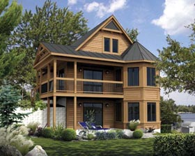 House Plan 52806 with 3 Beds, 2 Baths Elevation