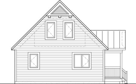 House Plan 52806 Rear Elevation
