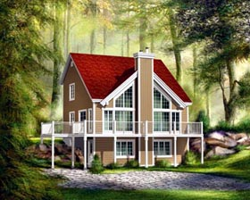 House Plan 52808 with 3 Beds, 2 Baths Elevation