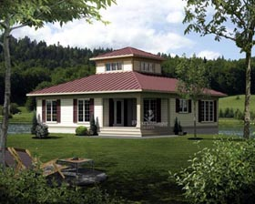 House Plan 52809 Elevation