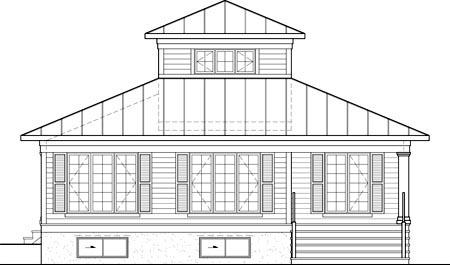 House Plan 52809 Rear Elevation
