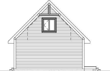 Rear Elevation of Plan 52810
