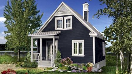 House Plan 52811 Rear Elevation