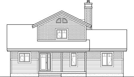 House Plan 52813 Rear Elevation