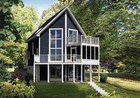 House Plan 52814 Elevation