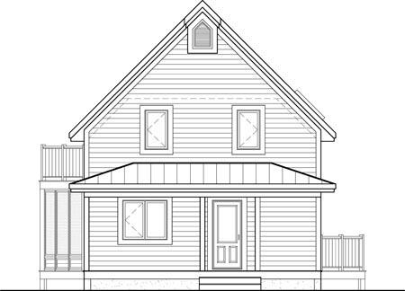 House Plan 52814 Rear Elevation