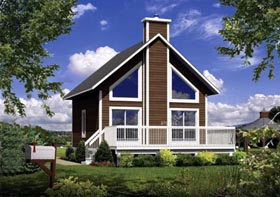 House Plan 52815 Elevation