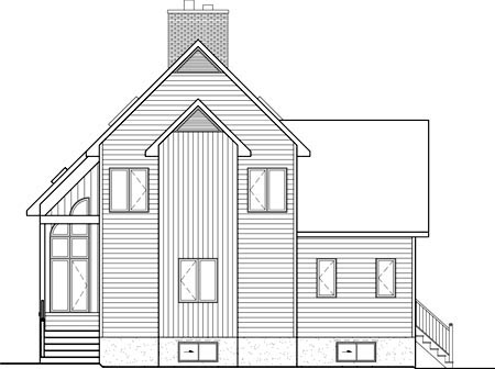 House Plan 52816 Rear Elevation