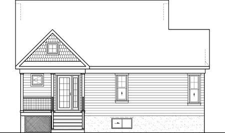 House Plan 52817 Rear Elevation