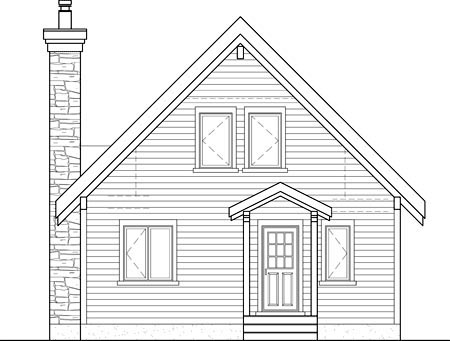 House Plan 52819 Rear Elevation