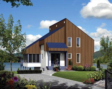 House Plan 52820 Rear Elevation