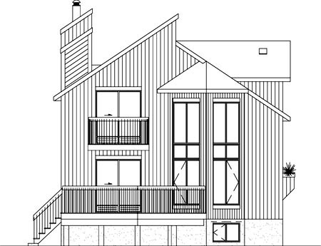 House Plan 52822 Rear Elevation