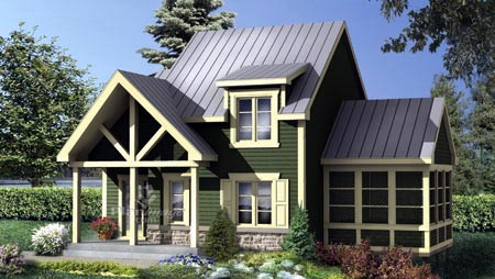 House Plan 52823 Elevation