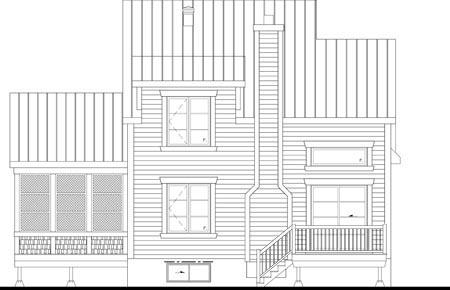 House Plan 52823 Rear Elevation