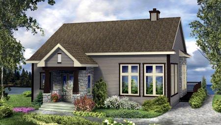 House Plan 52824 Elevation