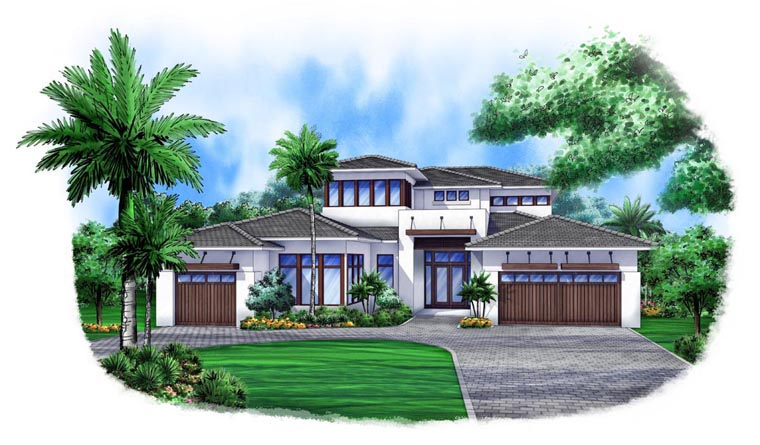 Contemporary House Plan 52903 Elevation