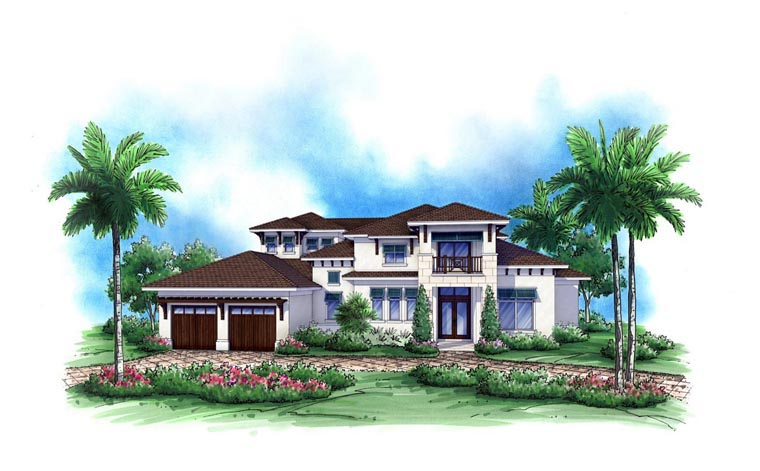 Coastal House Plan 52904 Elevation