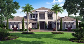 Coastal Contemporary House Plan 52910 Elevation