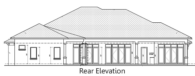 Coastal, Contemporary, Florida House Plan 52912 with 4 Beds, 5 Baths, 2 Car Garage Rear Elevation