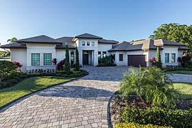 House Plan 52914 | Florida, Mediterranean Style House Plan with 3662 Sq Ft, 3 Bed, 5 Bath, 3 Car Garage Elevation