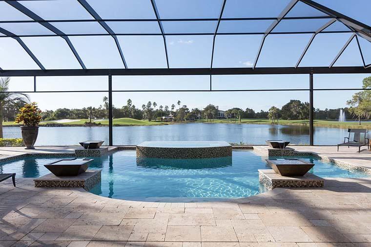 Florida, Mediterranean House Plan 52914 with 3 Beds, 5 Baths, 3 Car Garage Picture 10