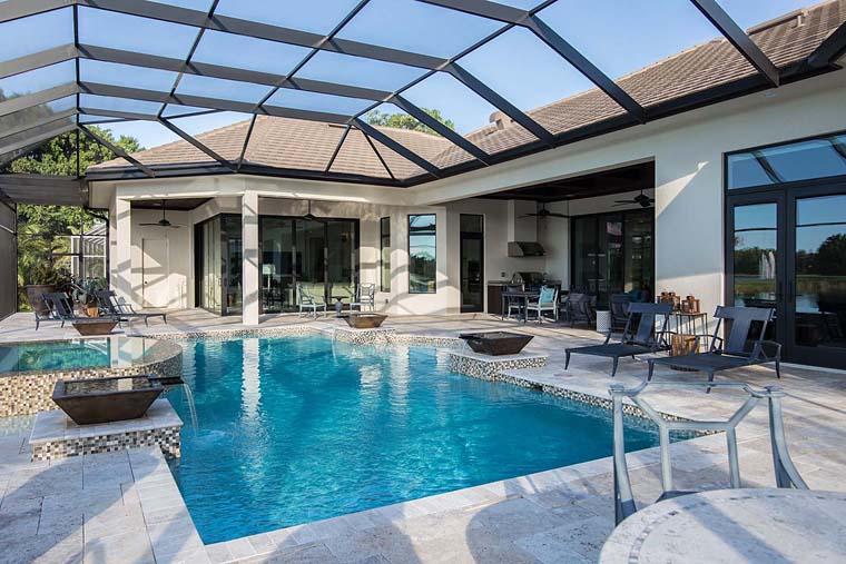 Florida, Mediterranean House Plan 52914 with 3 Beds, 5 Baths, 3 Car Garage Picture 11