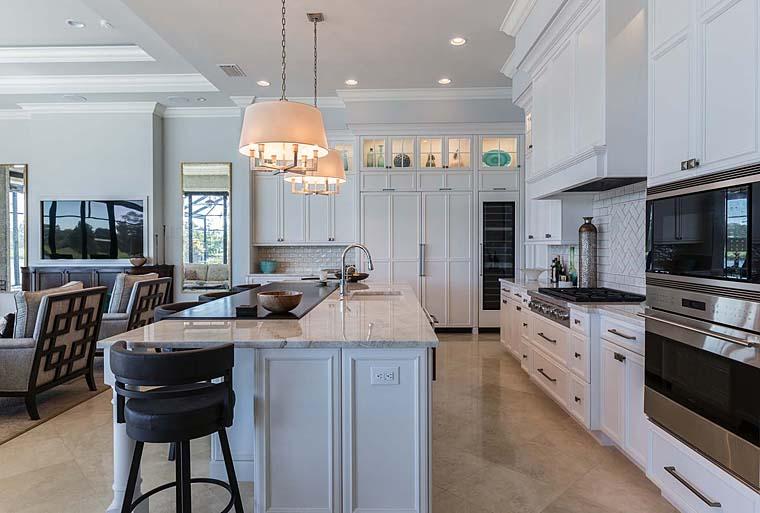 Florida, Mediterranean House Plan 52914 with 3 Beds, 5 Baths, 3 Car Garage Picture 13