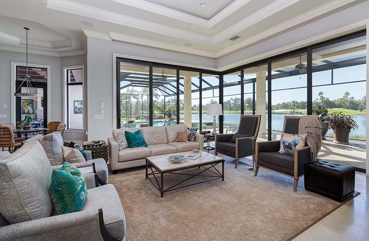 Florida, Mediterranean House Plan 52914 with 3 Beds, 5 Baths, 3 Car Garage Picture 5