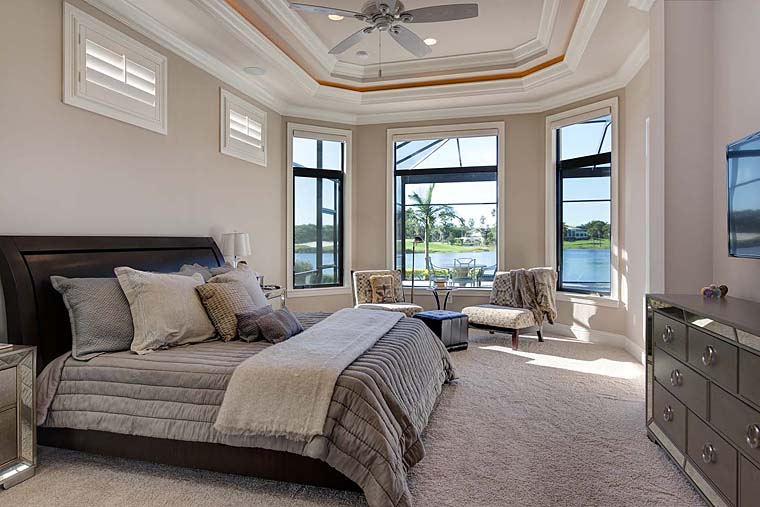 Florida, Mediterranean House Plan 52914 with 3 Beds, 5 Baths, 3 Car Garage Picture 7