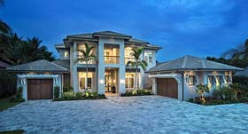 Coastal , Florida , Mediterranean House Plan 52922 with 4 Beds, 5 Baths, 3 Car Garage Elevation