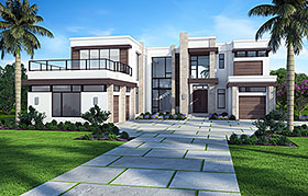 Florida Mediterranean Modern House Plan 52929 Elevation