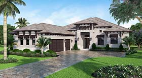 Coastal Florida Mediterranean House Plan 52930 Elevation