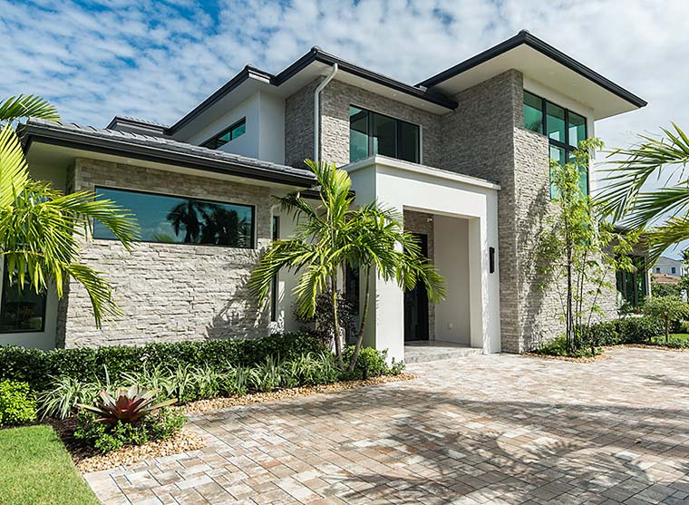 Coastal, Contemporary, Florida, Mediterranean House Plan 52931 with 4 Beds, 5 Baths, 3 Car Garage Picture 2