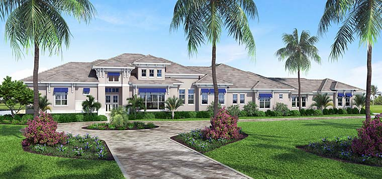 Coastal Contemporary Florida House Plan 52939 Elevation