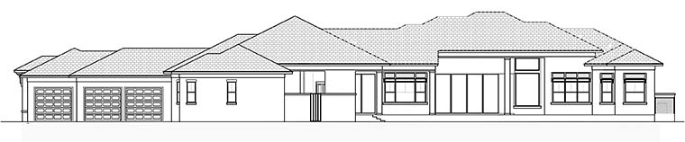 Coastal Contemporary Florida House Plan 52939 Rear Elevation